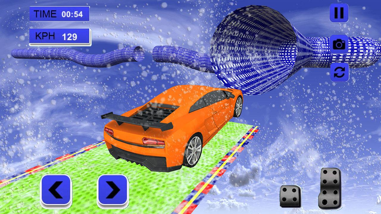 Android Extreme Rooftop Winter Snow Car Racing City Stunts Screen 3