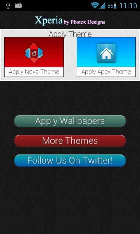 Android Xperia Apex/Nova Theme Screen 7