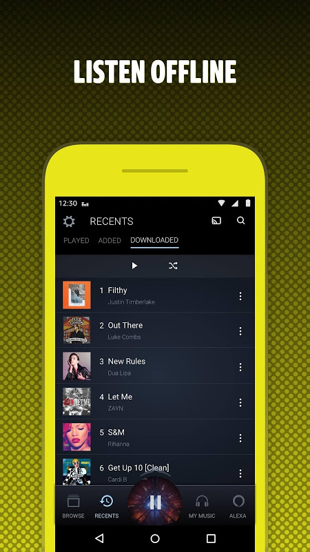 Android Amazon Music Screen 4