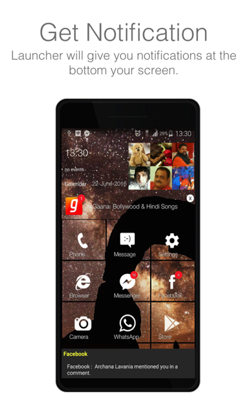 Android WP Style Launcher 10 (No Ads) Screen 1