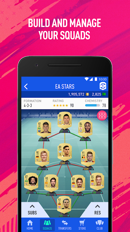 Android EA SPORTS™ FIFA 18 Companion Screen 4