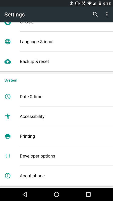 Google TalkBack 5.0.2 Screen 6