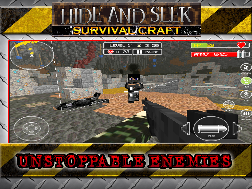 Android Hide N Seek Survival Craft Screen 5