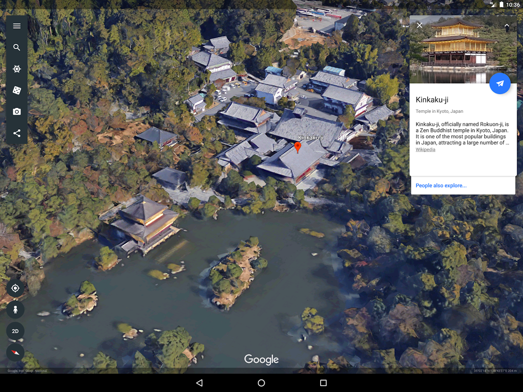 Android Google Earth Screen 6