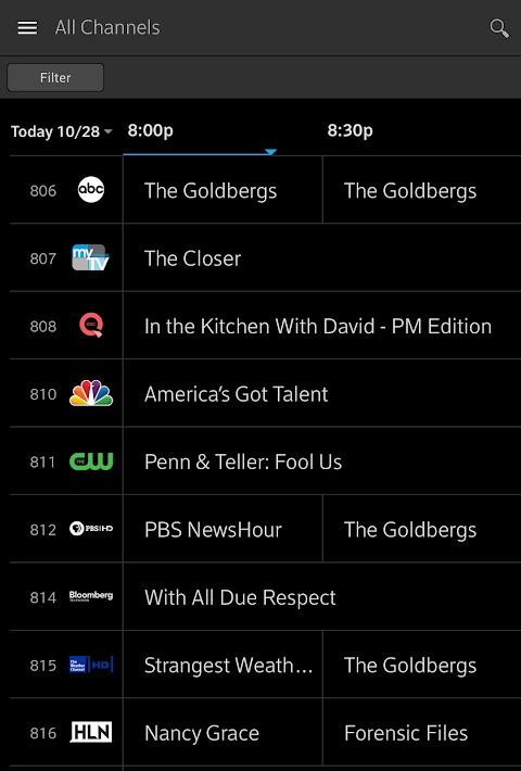 Xfinity Stream 5.1.1.001 Screen 12
