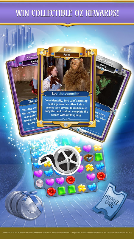 Android The Wizard of Oz Magic Match 3 Screen 1