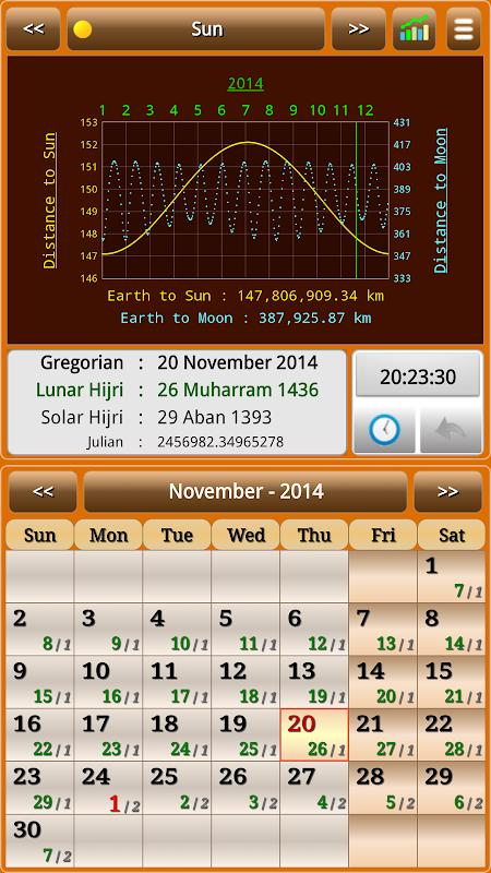 Sun & Moon Calendar v3.6.0 Screen 23