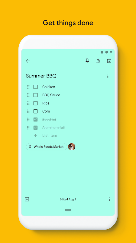 Google Keep - Notes and Lists 5.19.131.03.40 Screen 6