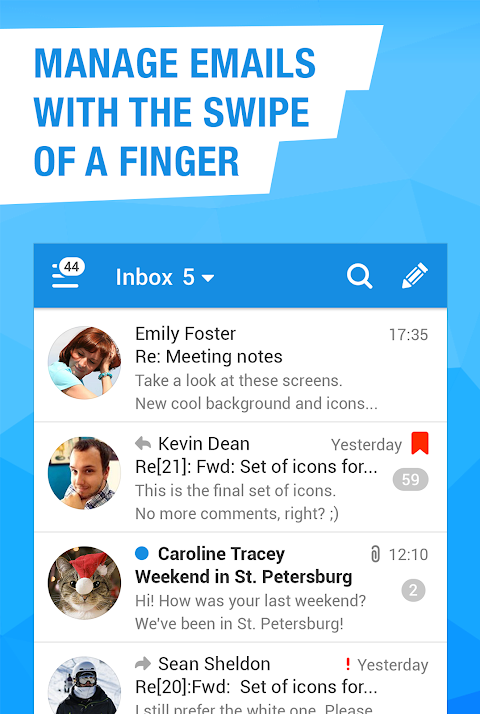 Mail.Ru - Email App 8.2.0.25646 Screen 3