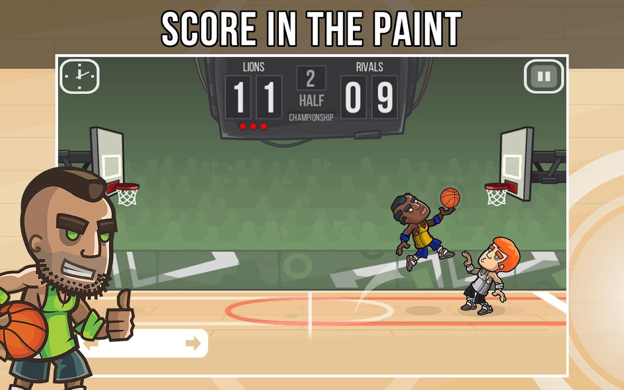 Android Basketball Battle Screen 1