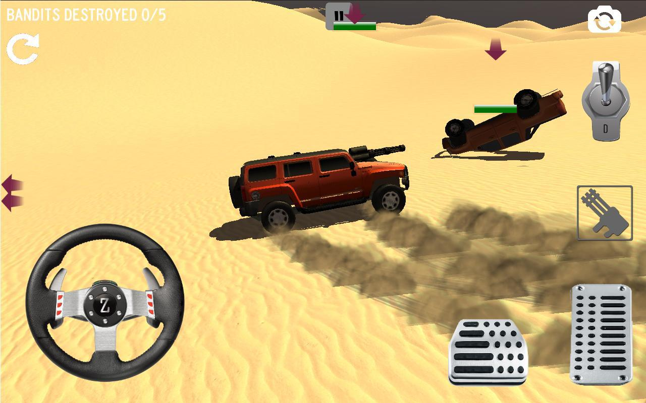 Android 4x4 Desert Safari Attack Screen 1