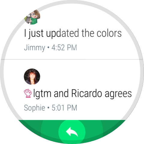 Android Hangouts Screen 1