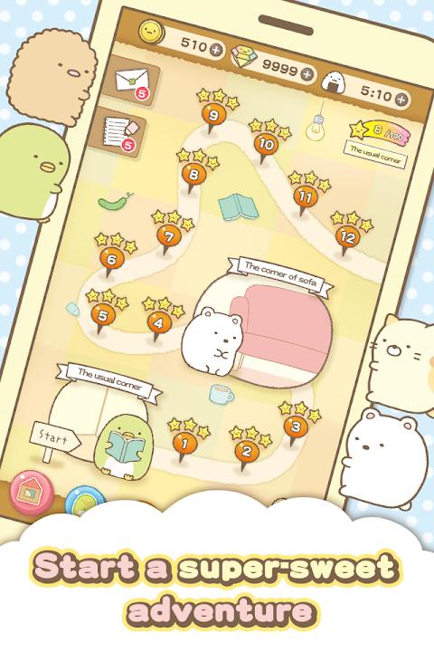 Android Sumikko gurashi-Puzzling Ways Screen 5