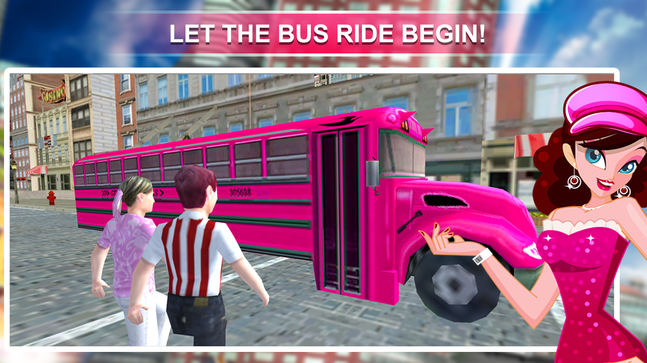 Pink Lady School Bus Driver 1.1 Screen 1
