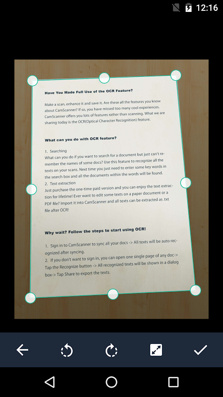 Android CamScanner -Phone PDF Creator Screen 15