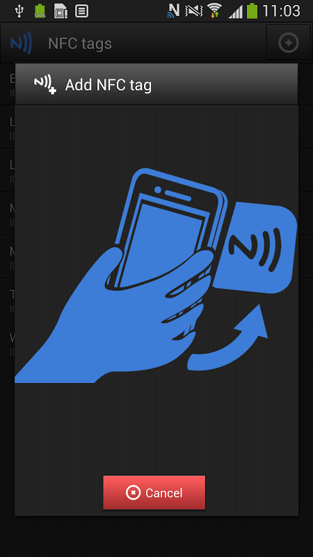 Android NFC Profiles for SVC (tags) Screen 3