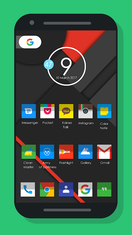Nougat Square - Icon Pack 1.3.8.1 Screen 1