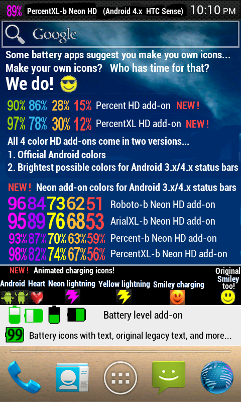 Android Battery Notifier Pro BT Screen 2
