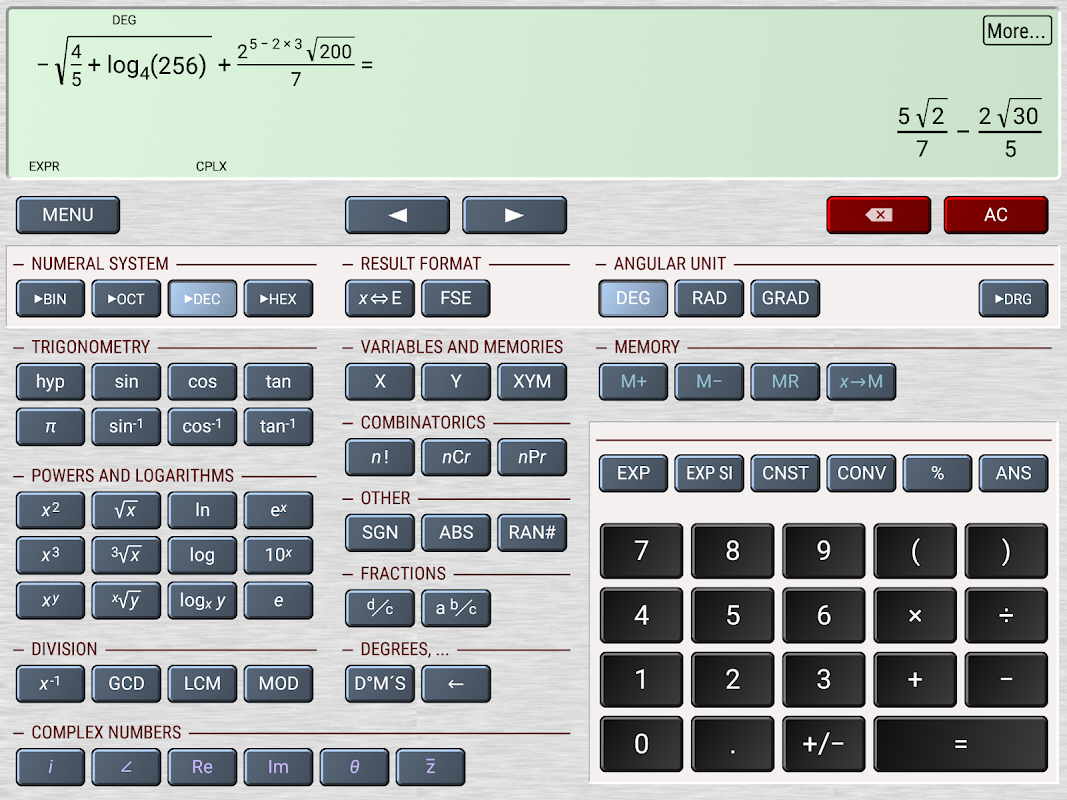 Android HiPER Calc Pro Screen 10