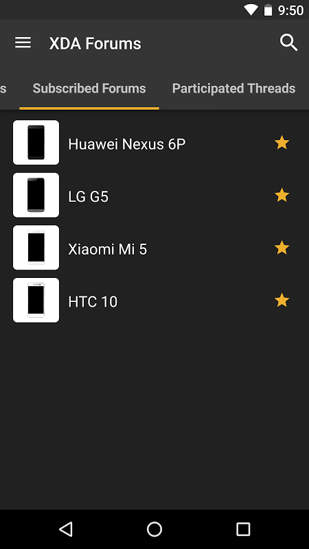 Android XDA Screen 1