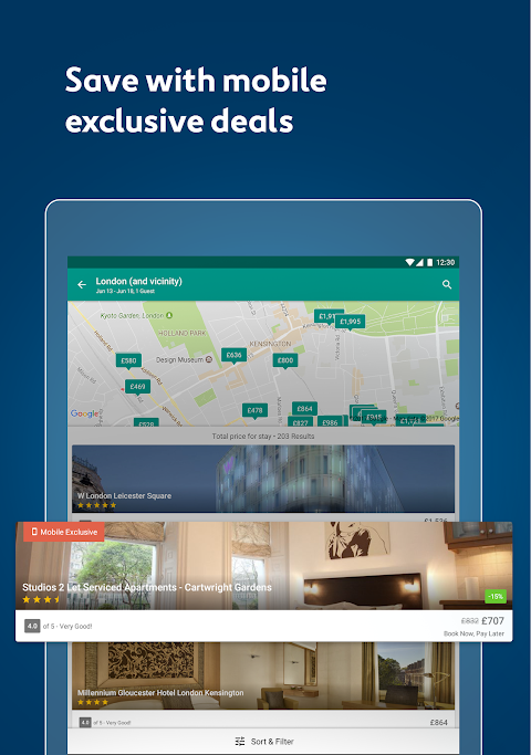 Expedia Hotels, Flights, Car Hires & Activities 18.46.1 Screen 2