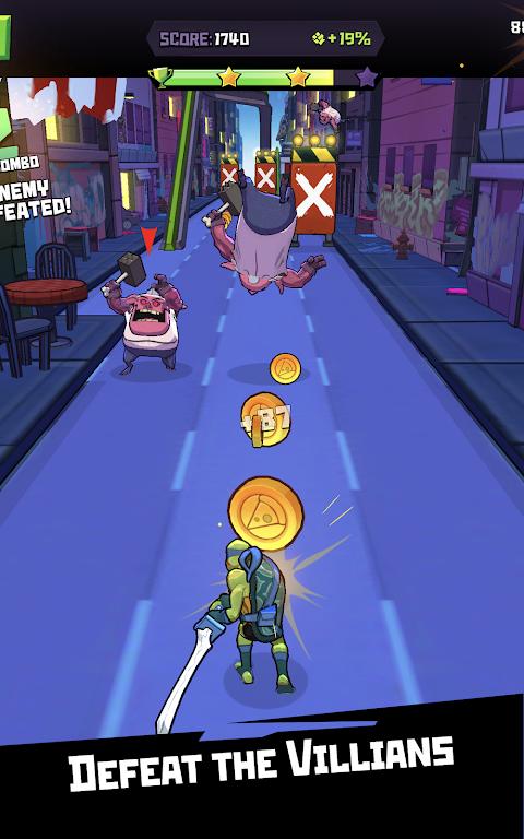 Android Rise of the TMNT: Ninja Run Screen 6