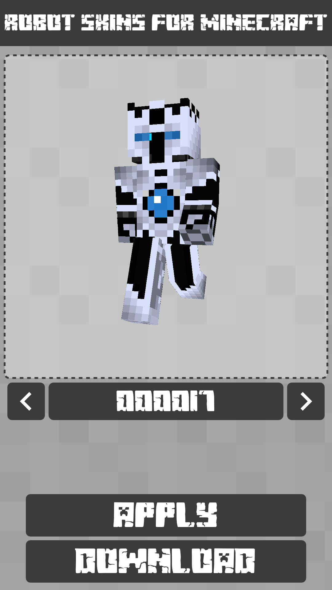 Android Robot Skins for Minecraft PE Screen 4