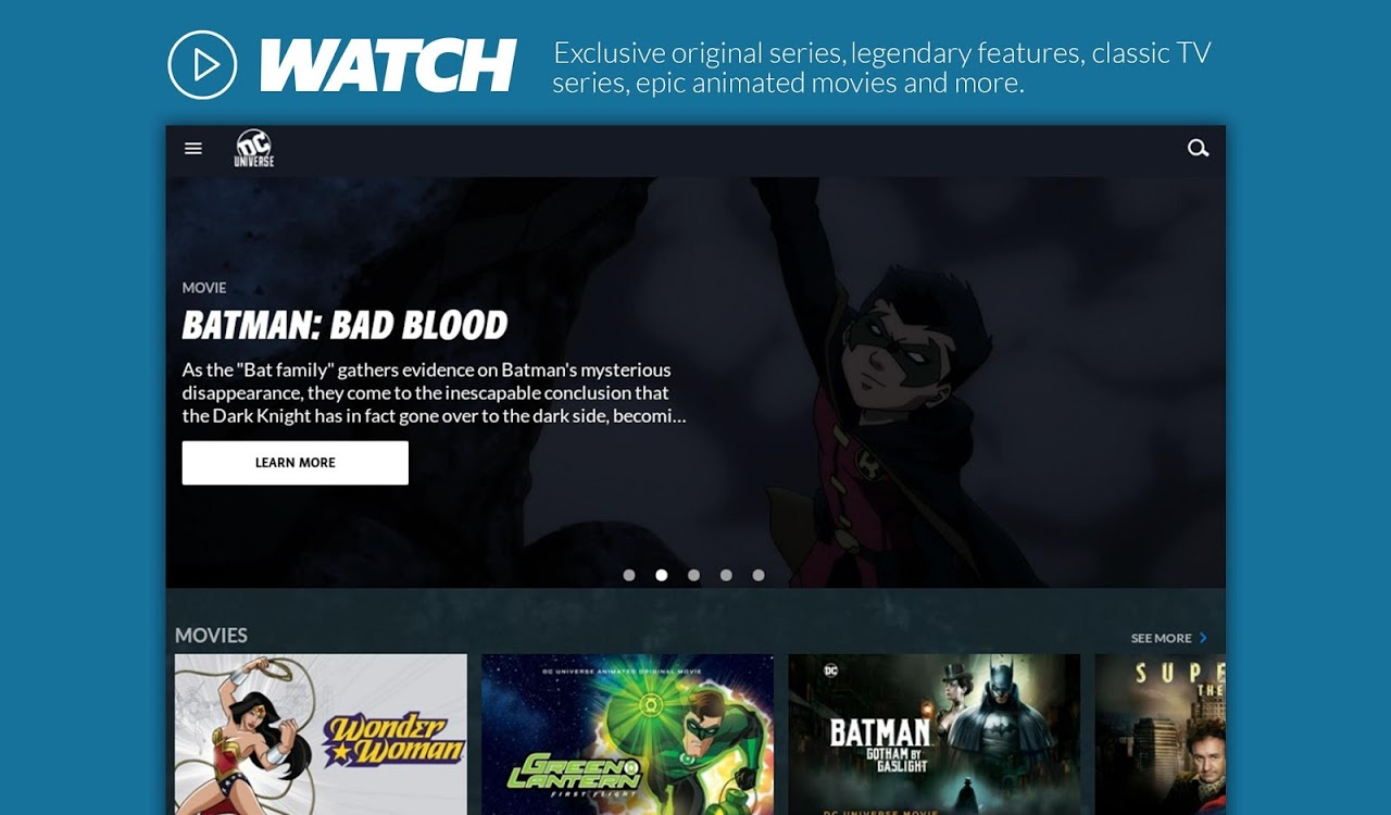 Android DC Universe - Android TV Screen 1