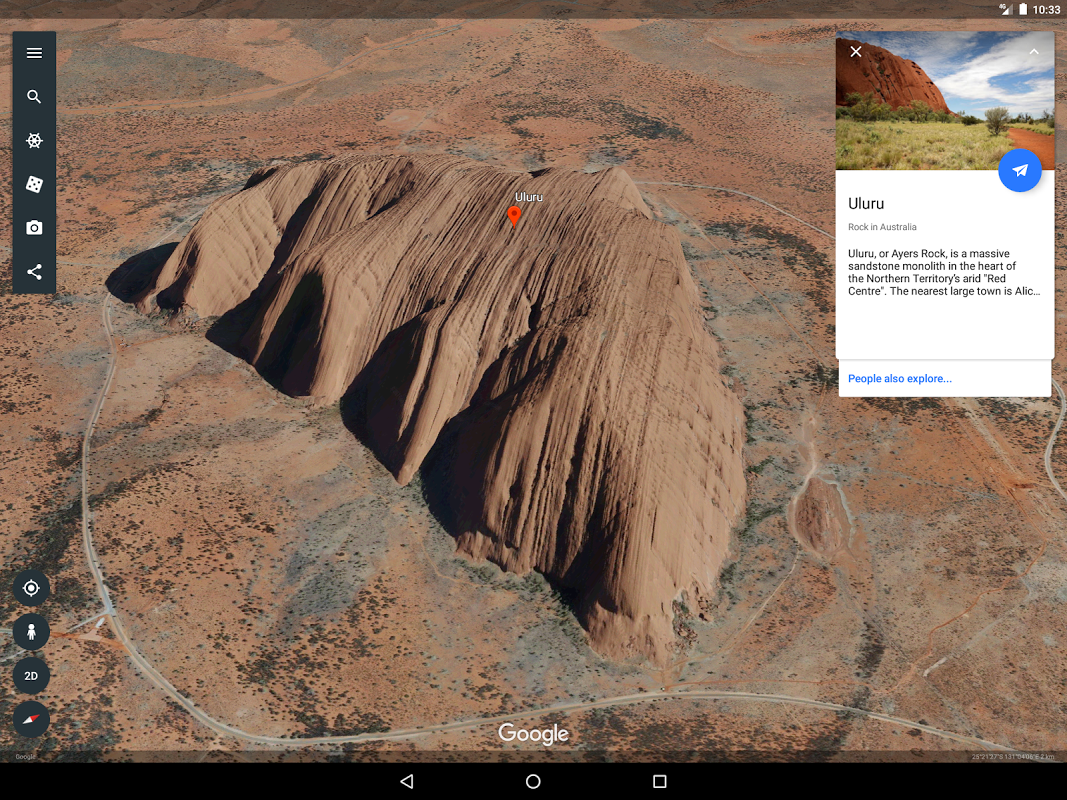 Android Google Earth Screen 9
