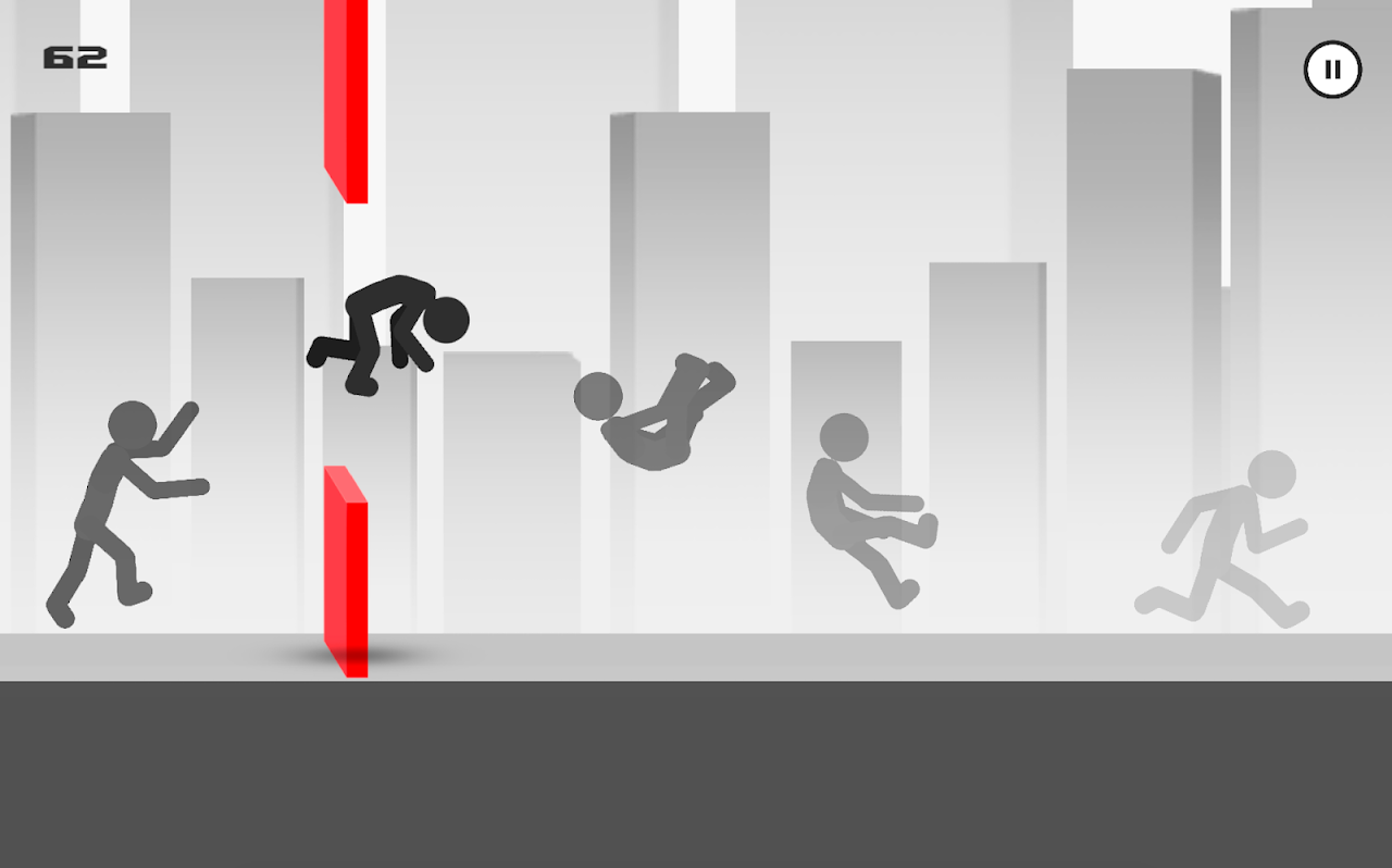 Android Stickman Parkour Runner Screen 1