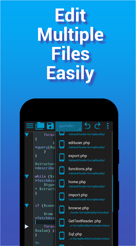 I<code> Go - Code Editor / IDE / Online Compiler 2.05 Screen 1