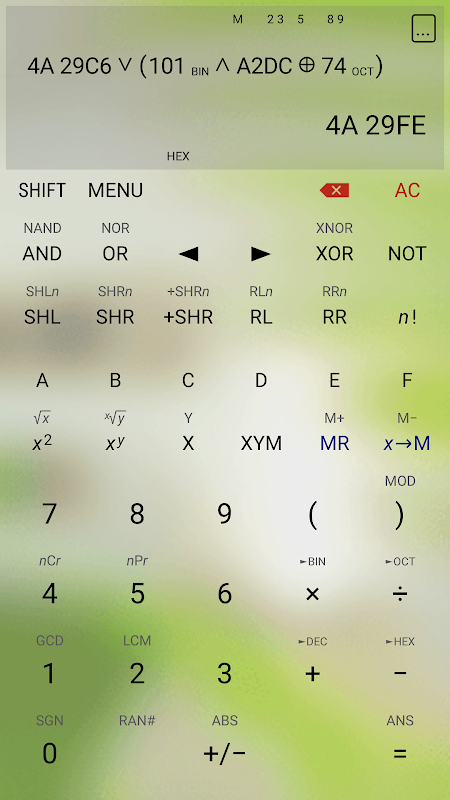 Android HiPER Calc Pro Screen 7