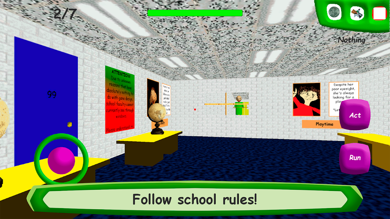 Baldi's Basics in Education 1.4 Screen 1