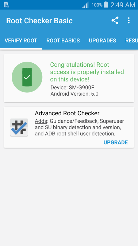 Root Checker Basic 5.9.6 Screen 1