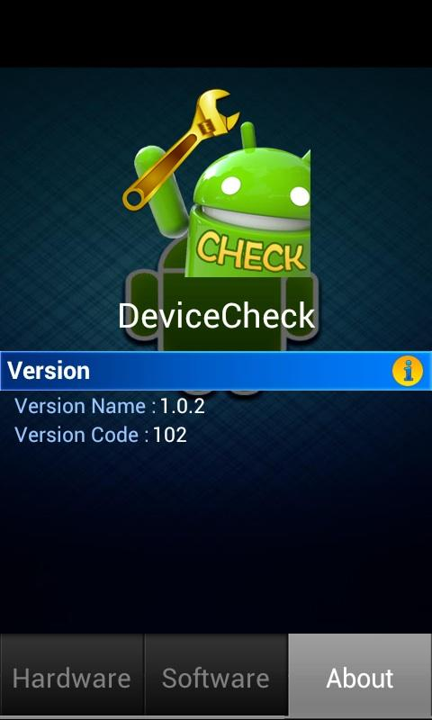 Device Check 1.0.2 Screen 2