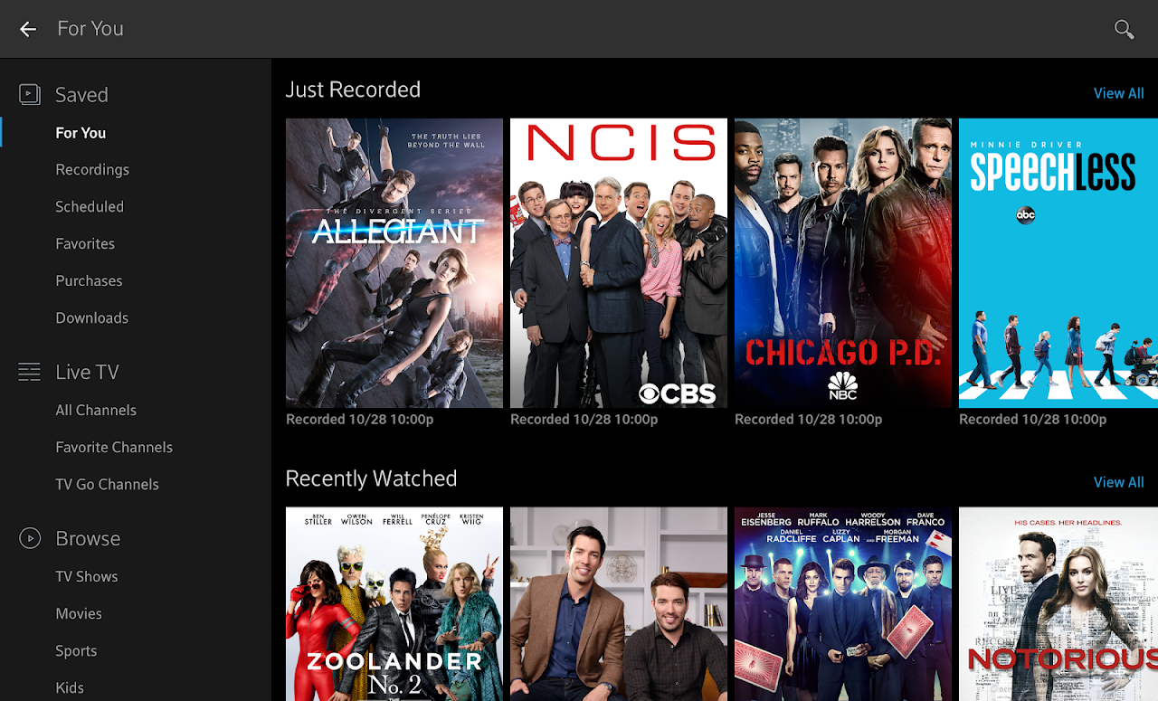 Xfinity Stream 5.1.1.001 Screen 8