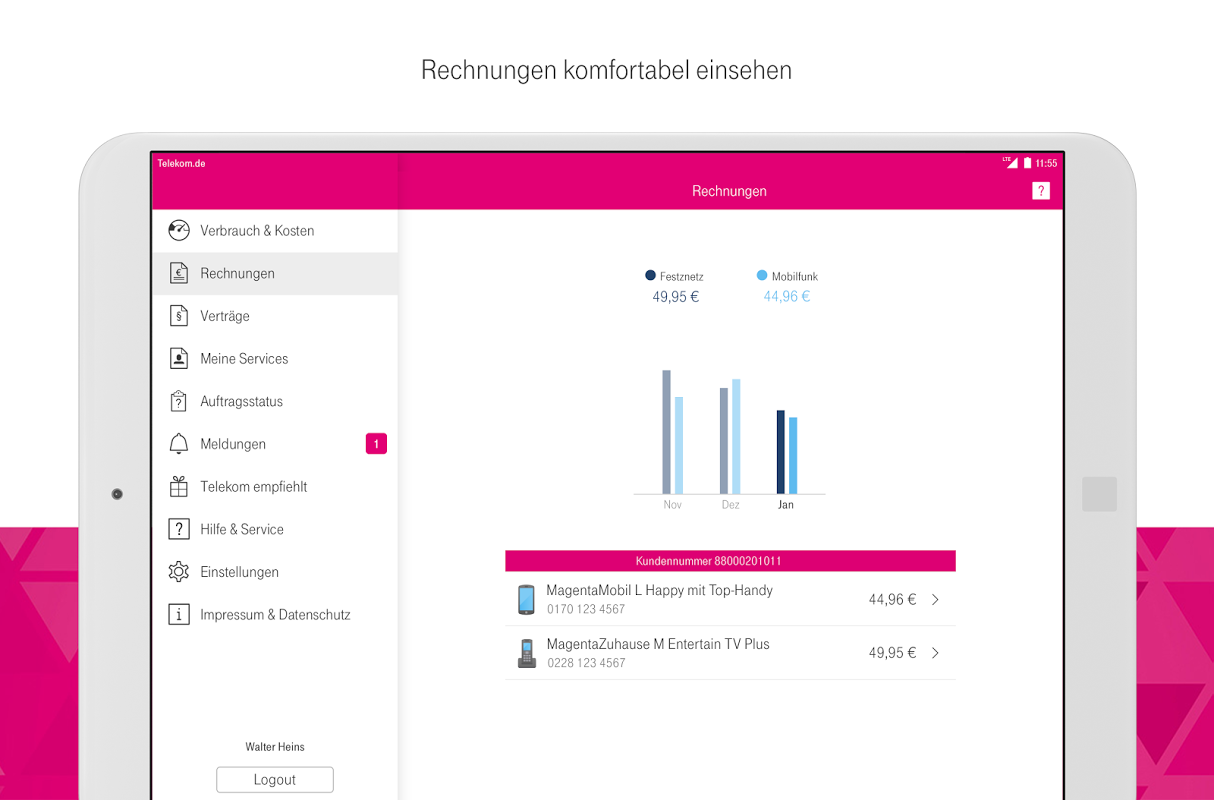 Android MagentaSERVICE Screen 7