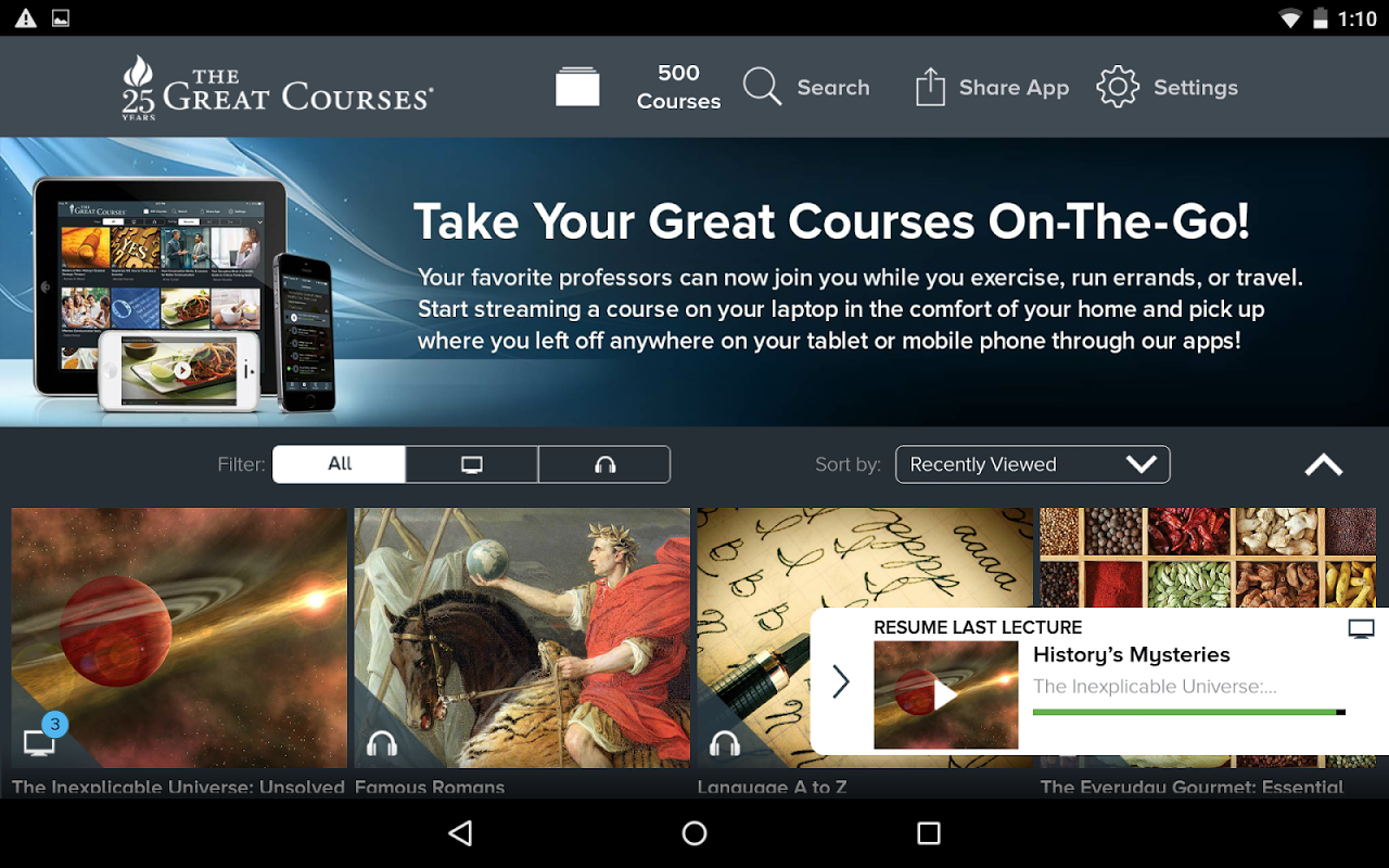 Android The Great Courses Screen 10