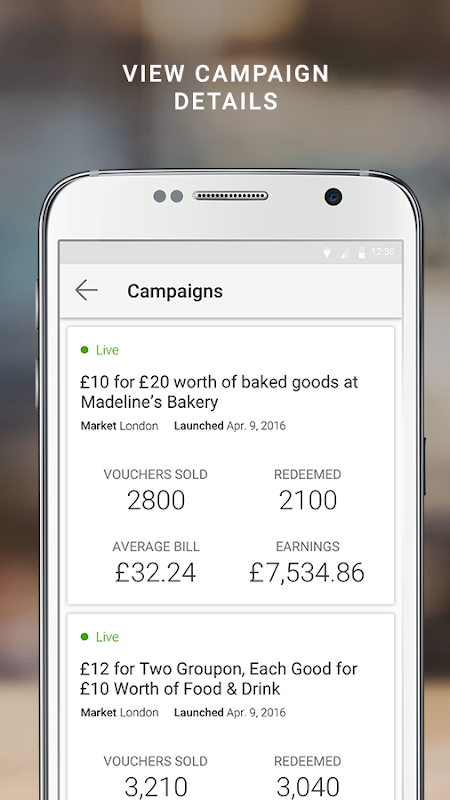 Android Groupon Merchants Screen 2