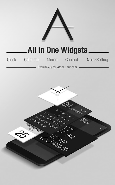 Android Atom All in One Widgets Screen 2