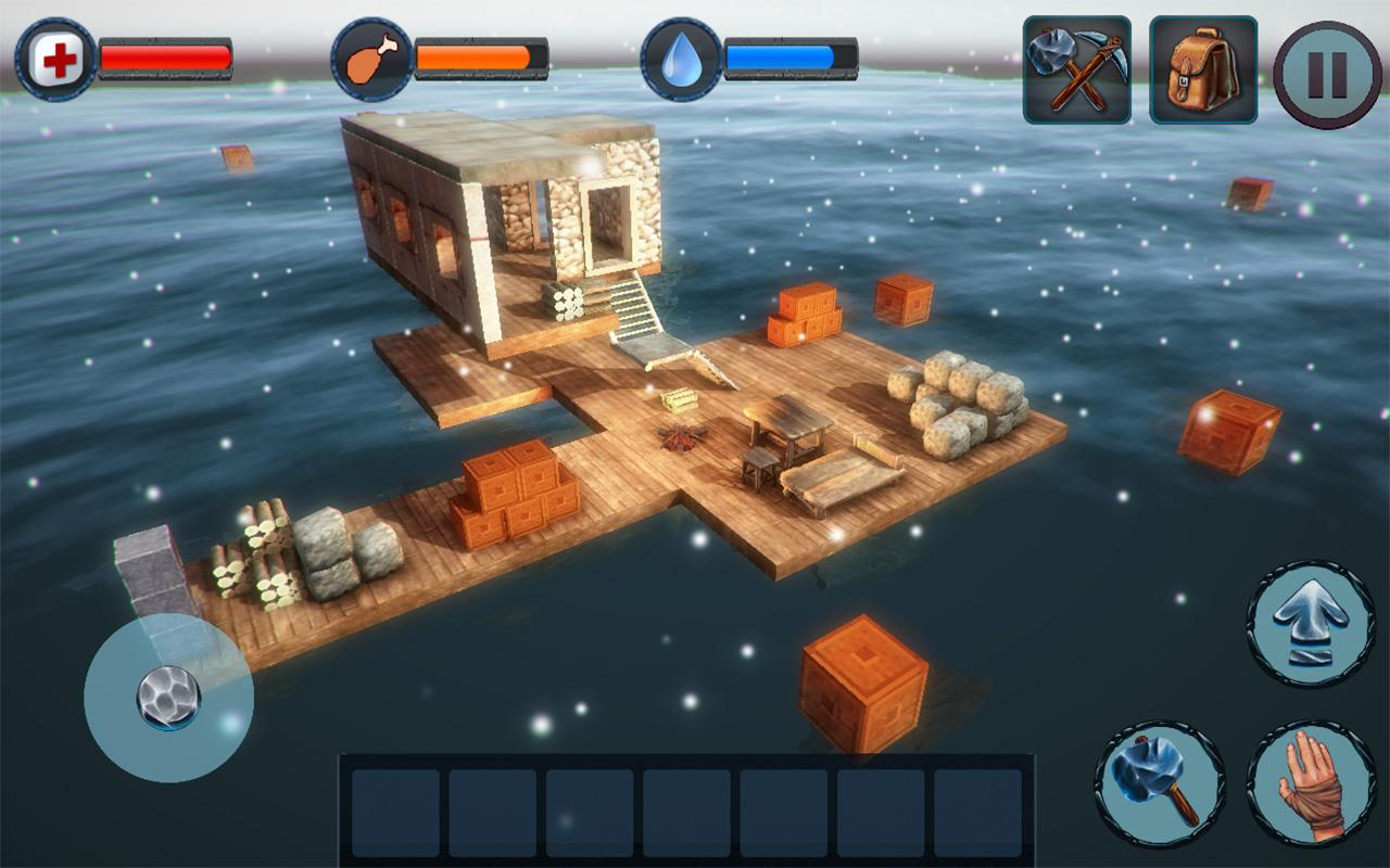 Android Winter Survival On Raft 3D - PRO Screen 2