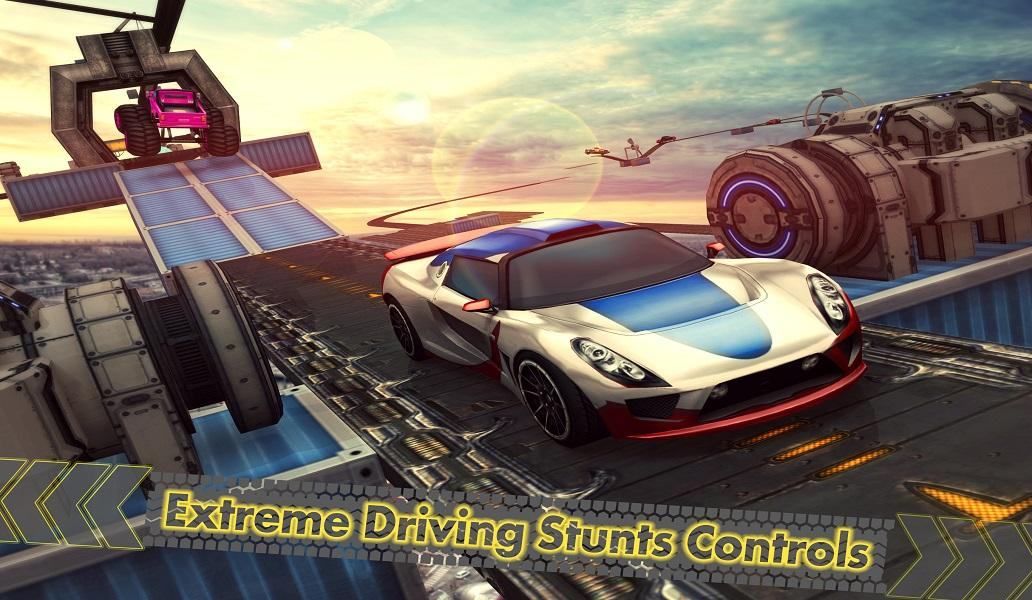 Android Extreme Car Racing Trick Stunts Impossible Tracks Screen 1