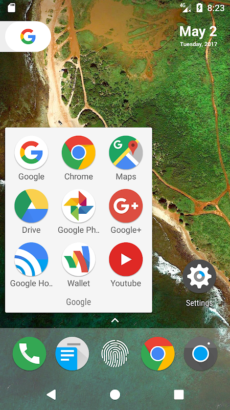 Android N Launcher Pro - Nougat 7.0 Screen 1