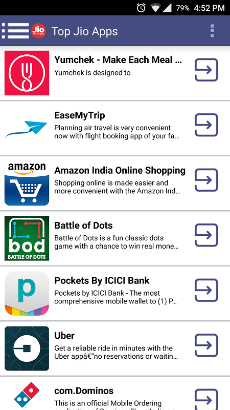 Android Jio Apps Store Screen 1