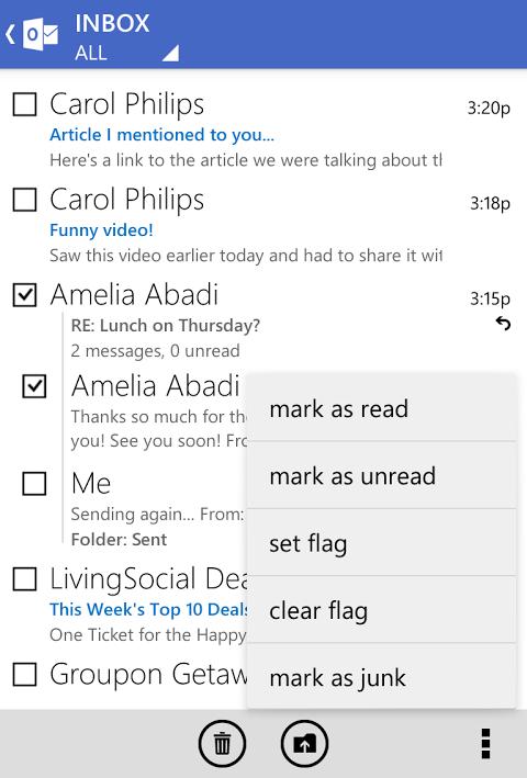 Outlook.com 7.8.2.12.49.9884 Screen 1