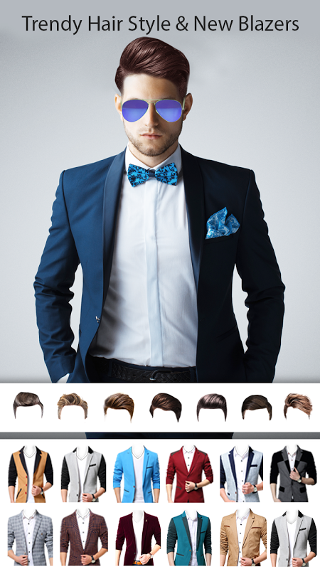 Man Photo Editor : Man Hair style ,mustache ,suit 1.2 Screen 8