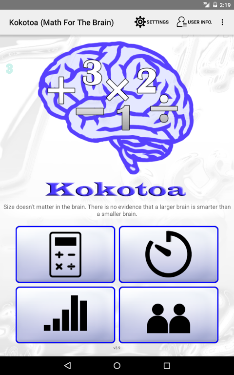 Android Kokotoa - Math For the Brain Screen 5