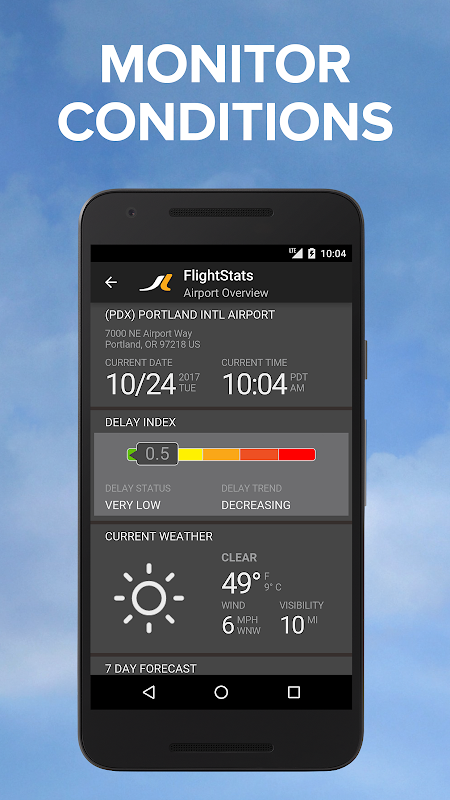 Android FlightStats Screen 3