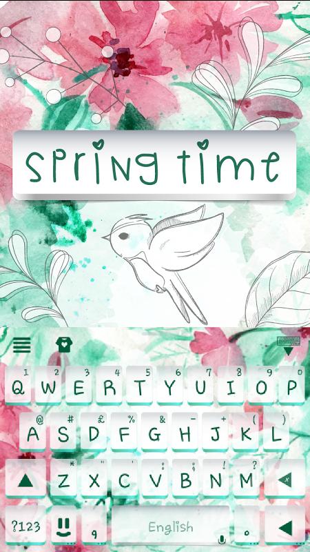 Spring Time Kika Keyboard 3.0 Screen 4