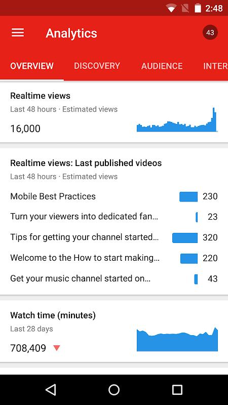 YouTube Studio 18.48.100 Screen 7